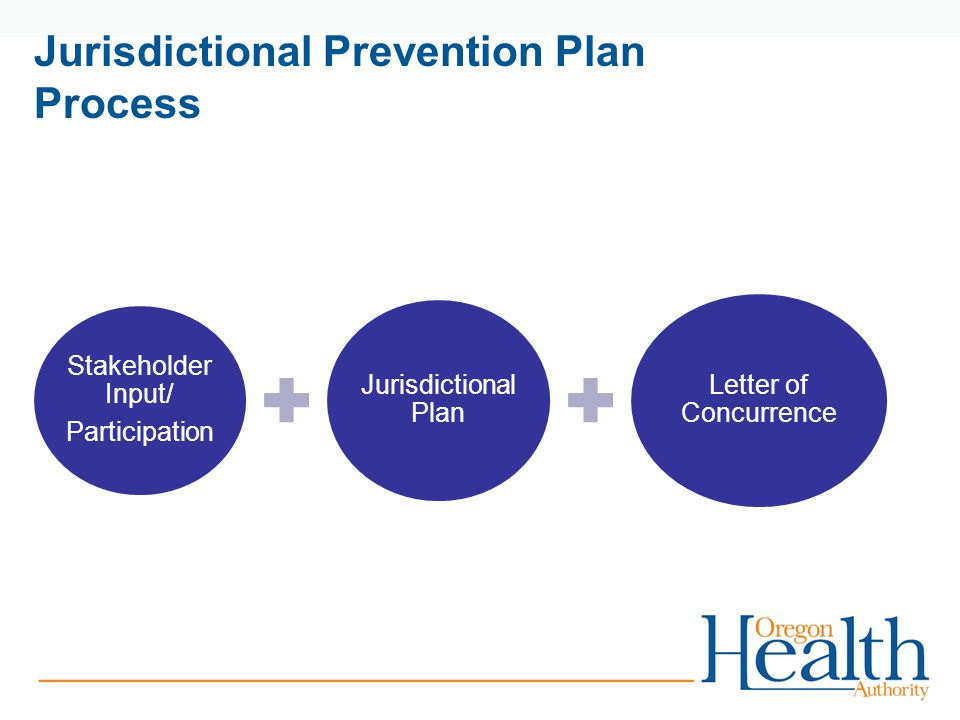 Jurisdictional Prevention Plan Process Stakeholder Input/ Participation Jurisdictional Plan Letter of Concurrence