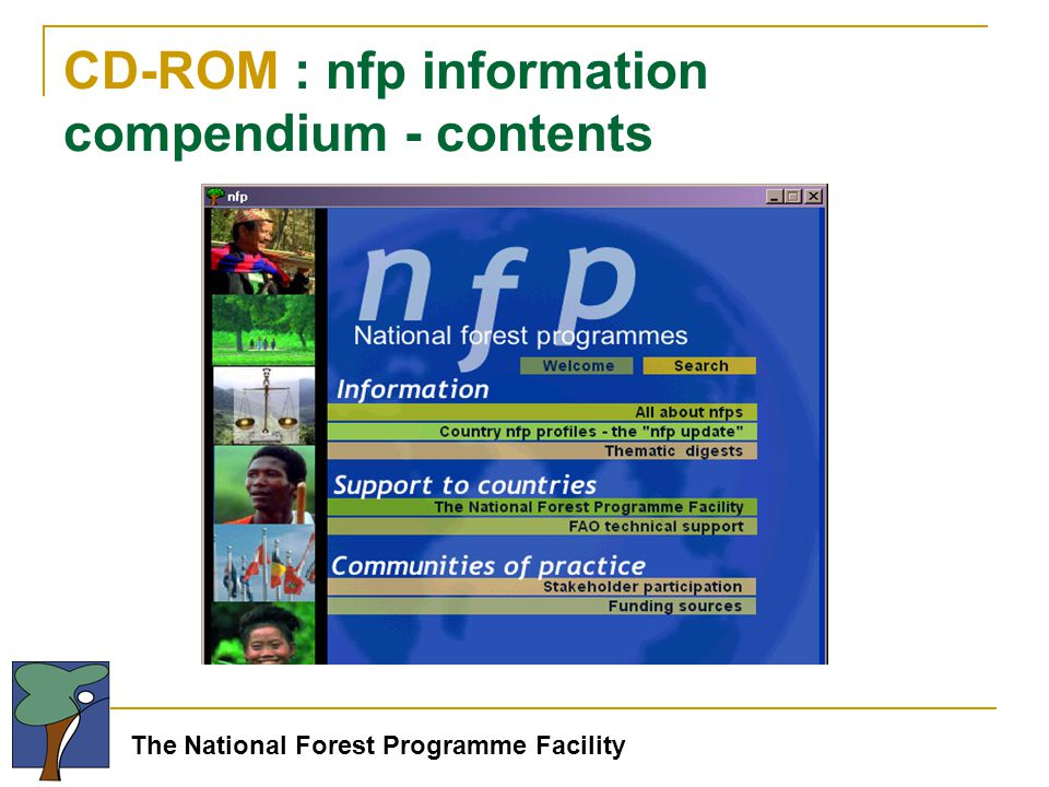 The National Forest Programme Facility CD-ROM : nfp information compendium - contents