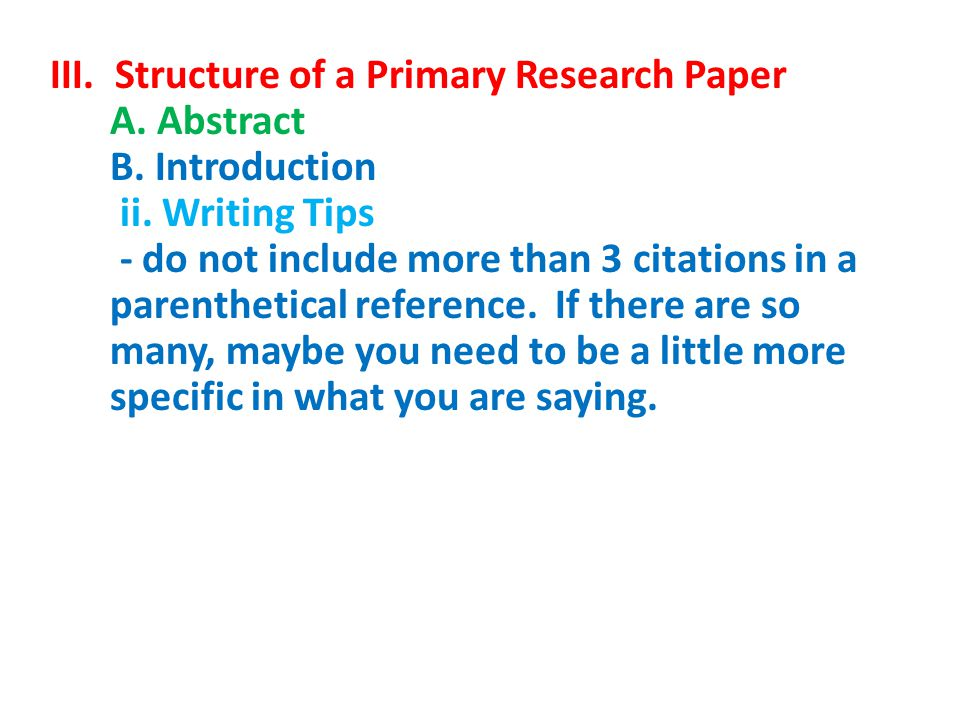 primary research paper The title pagetitle: tells the reader what to expect in the paperauthor(s): most papers are written by one or two primary authors structure of a research paper.