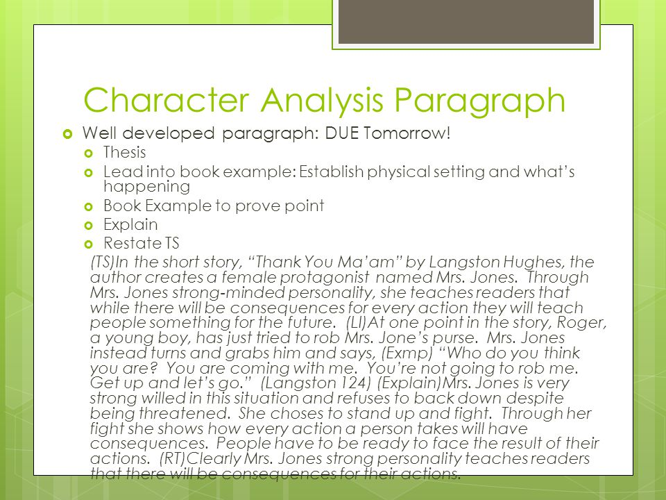 Characterization Essay Example