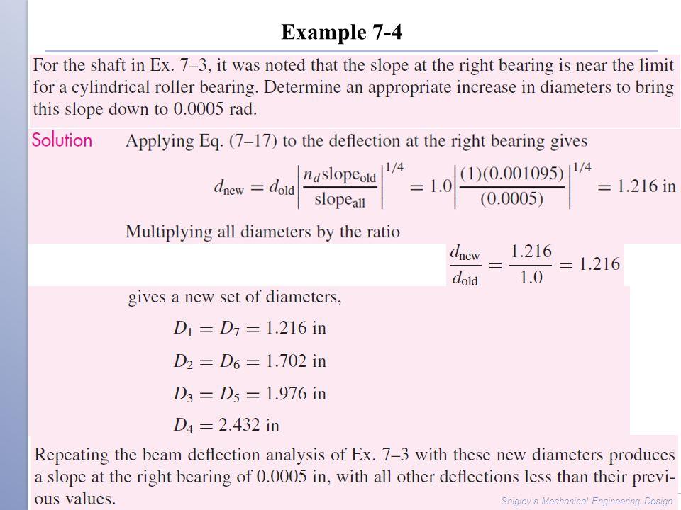 Example 7-4 Shigley's Mechanical Engineering Design
