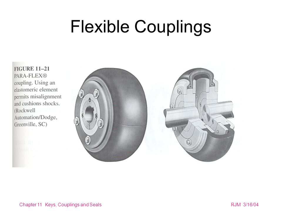 Chapter 11 Keys, Couplings and SealsRJM 3/16/04 Flexible Couplings