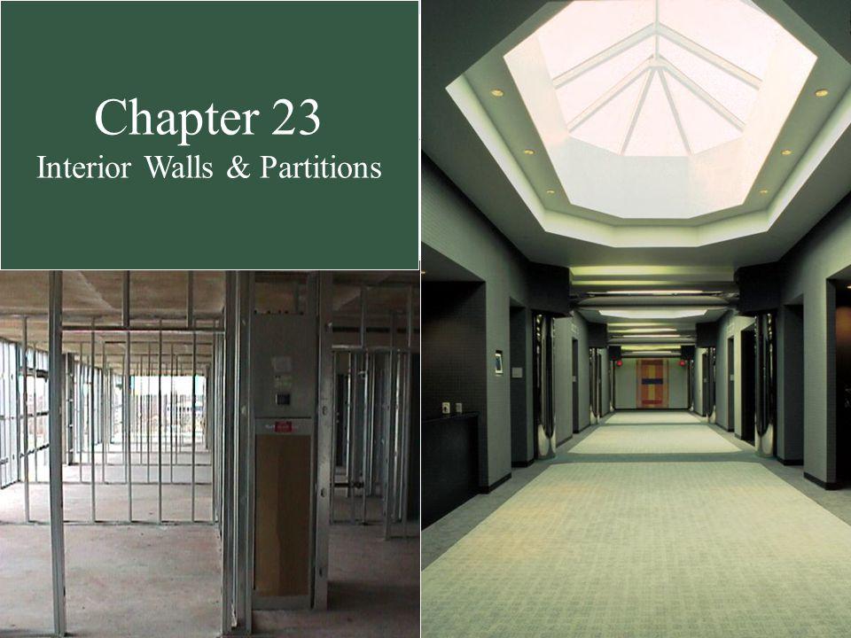 Interior Partitions chapter 23 interior walls & partitions. interior partitions