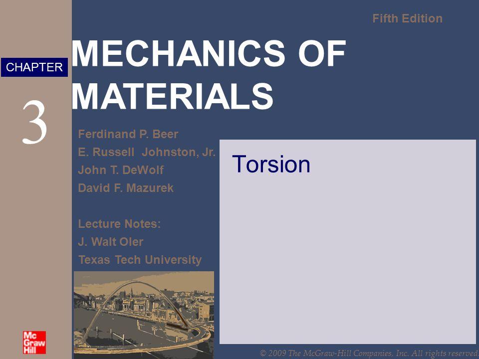 MECHANICS OF MATERIALS Fifth Edition Ferdinand P.Beer E.