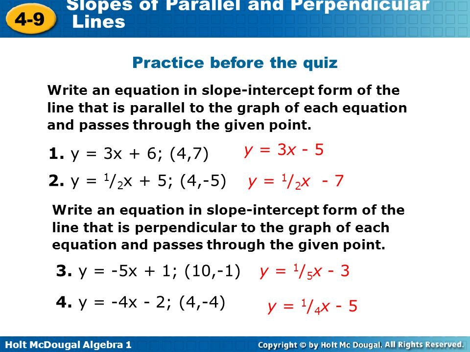 Slope Intercept Form Perpendicular Gallery Free Form Design Examples