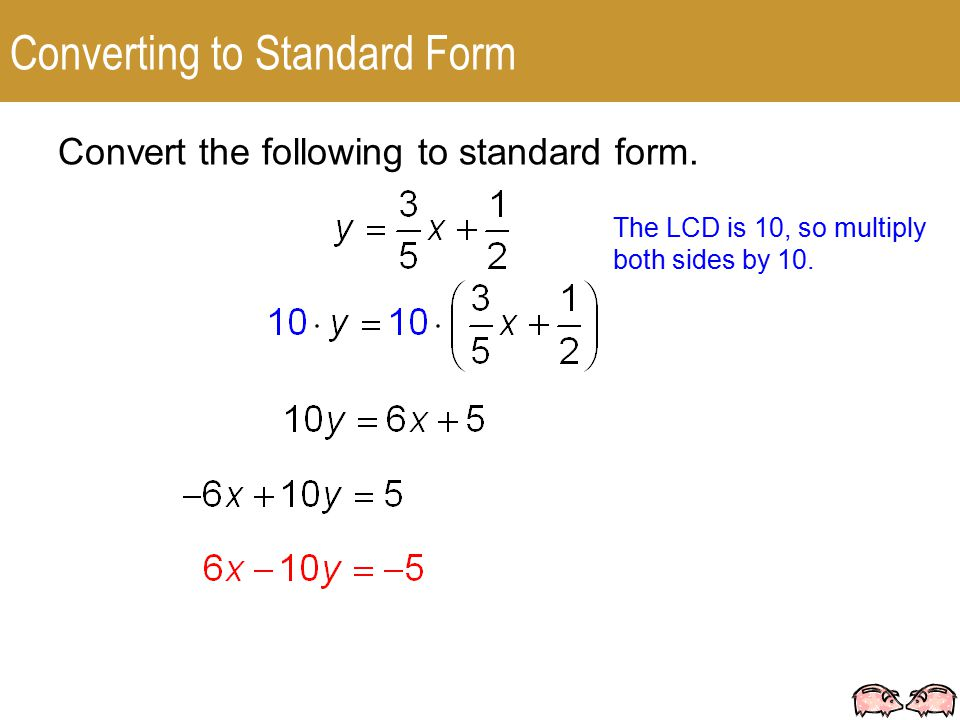 Write An Equation In Standard Form For The Line Described Heart