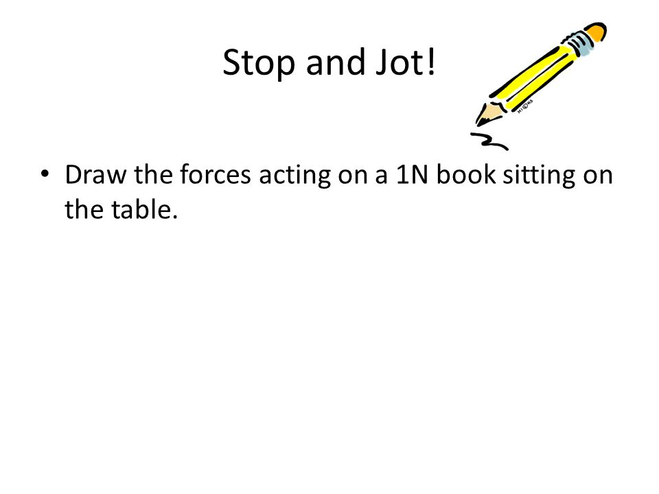 Force Book Drawing Draw The Forces Acting on a 1n
