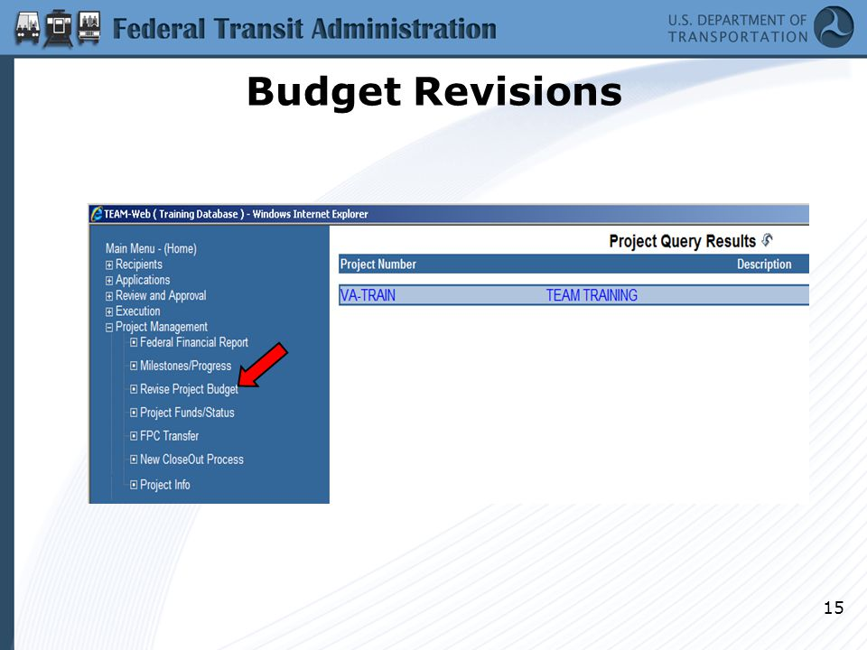 Budget Revisions 15