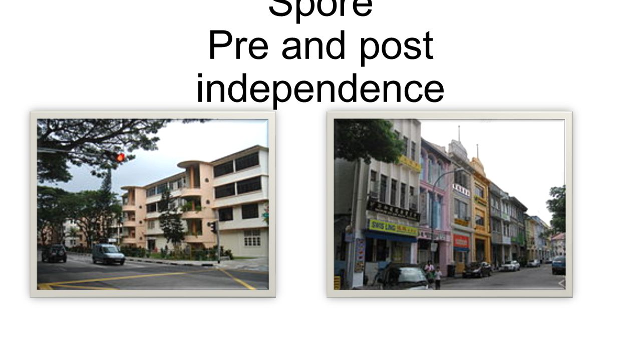 Changes in Housing in Spore Pre and post independence