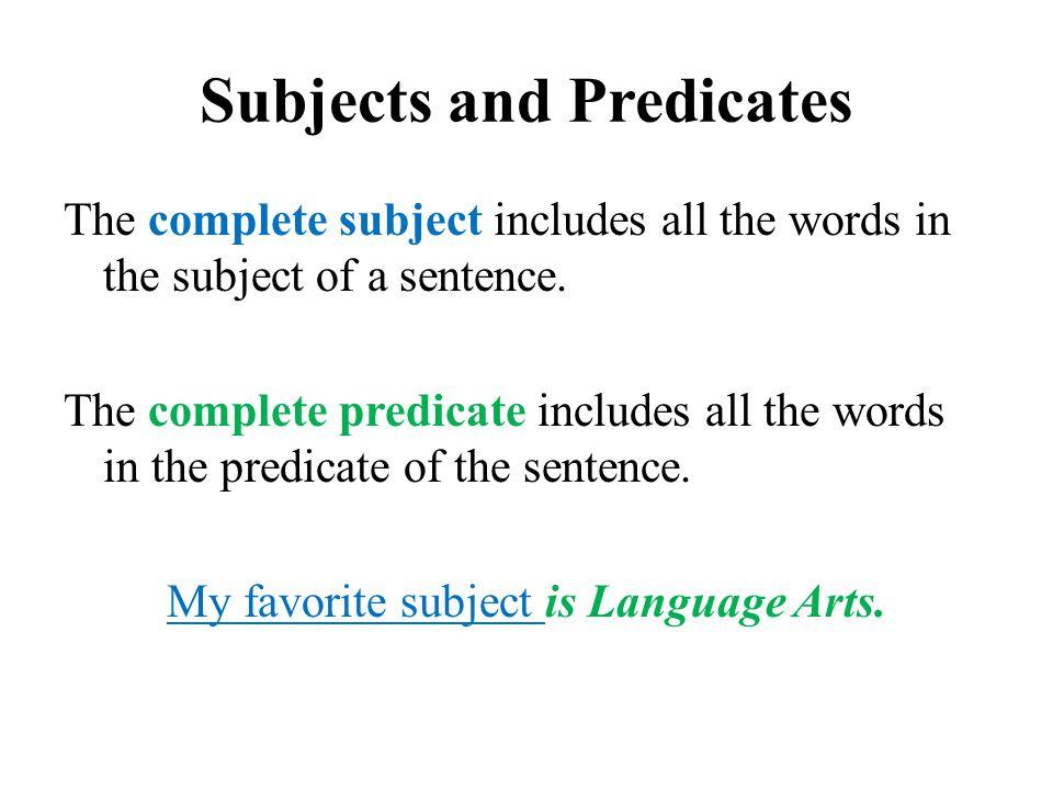 Homework help language predicate verb subject Buy economics essay – Subject and Predicate Worksheet