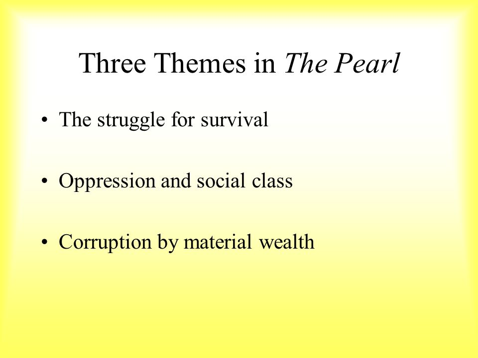 the pearl essay question