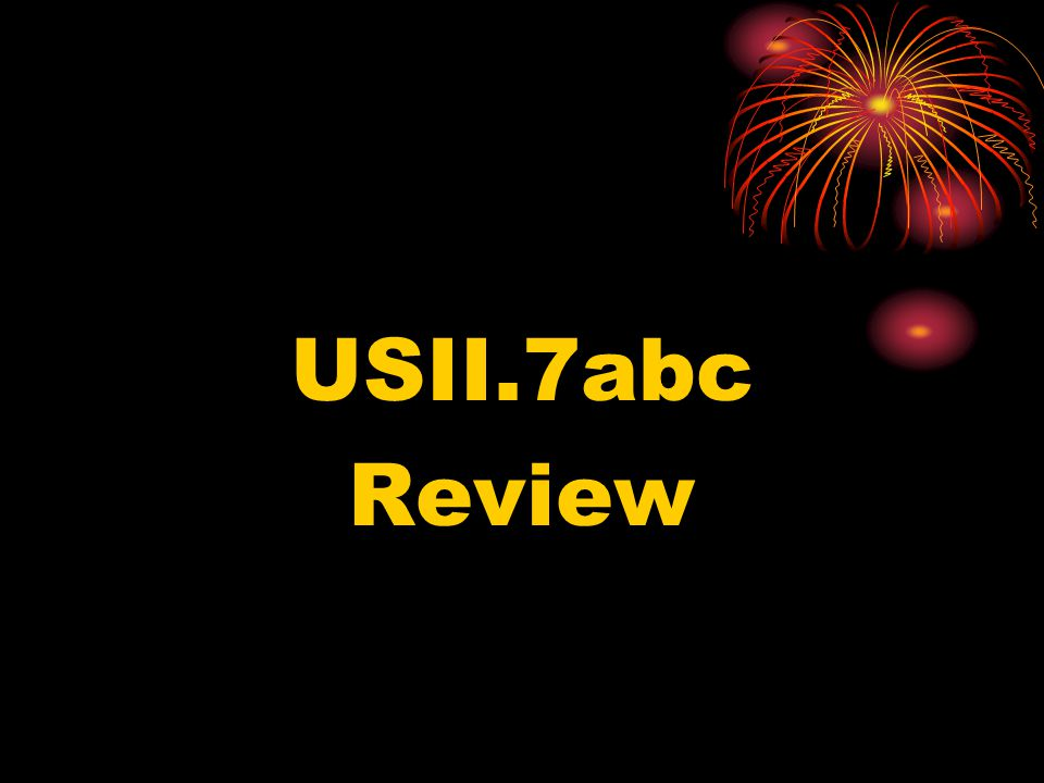 USII.7abc Review