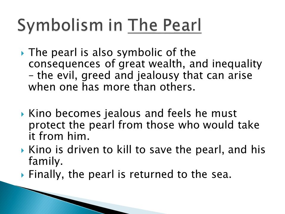 the pearl greed as a destructive force