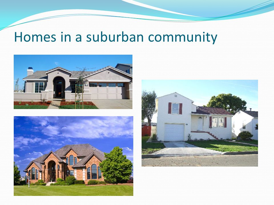 Homes in a suburban community