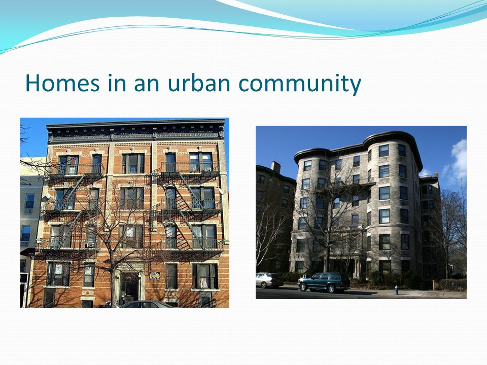 Homes in an urban community
