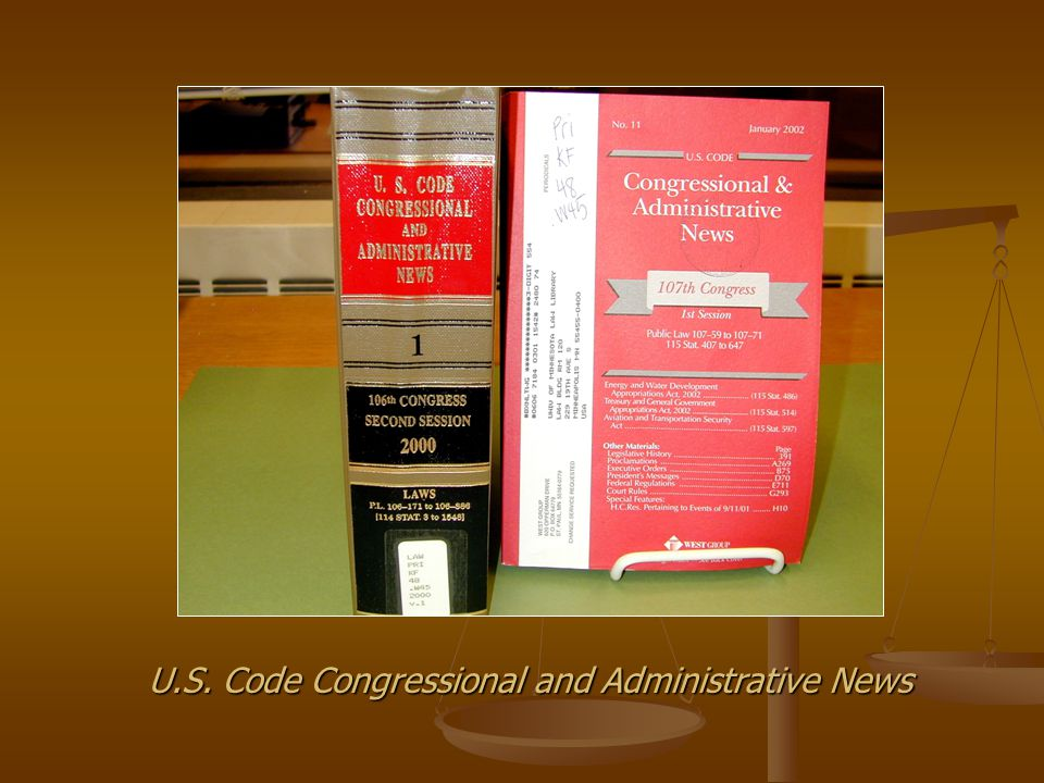 U.S. Code Congressional and Administrative News