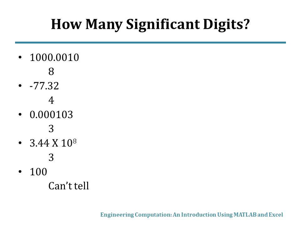 How Many Significant Digits.