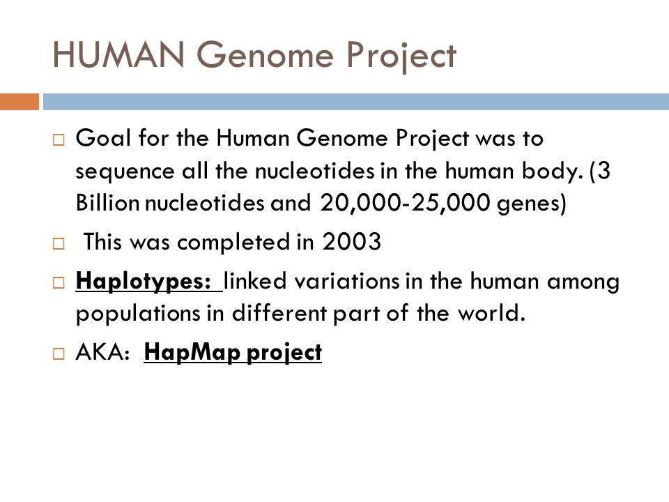 biotechnology and the human genome project
