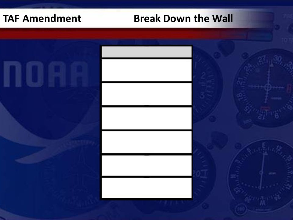 TAF Amendment Break Down the Wall