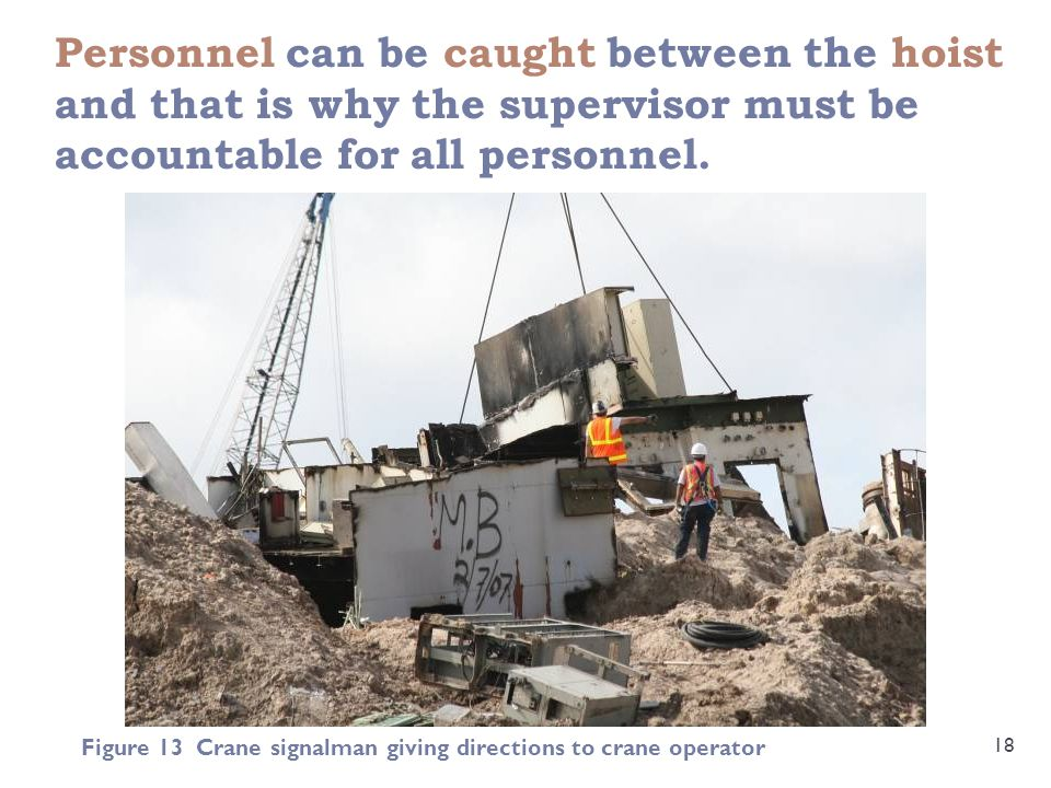 Personnel can be caught between the hoist and that is why the supervisor must be accountable for all personnel.