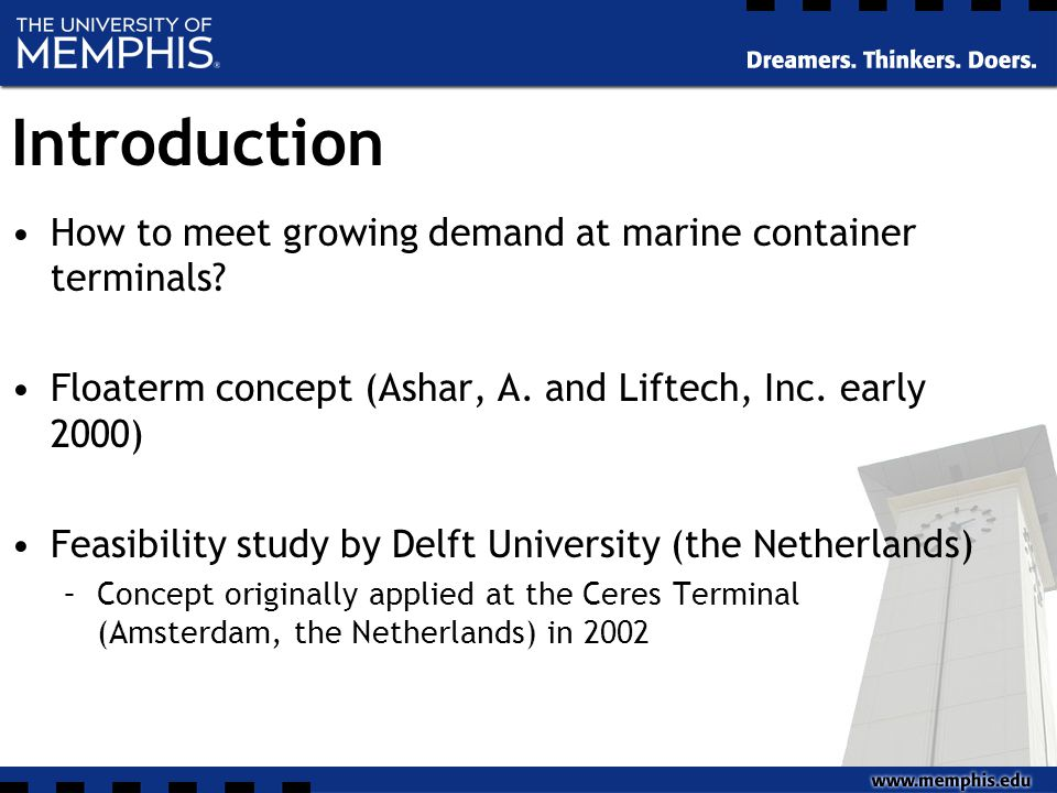 Introduction How to meet growing demand at marine container terminals.