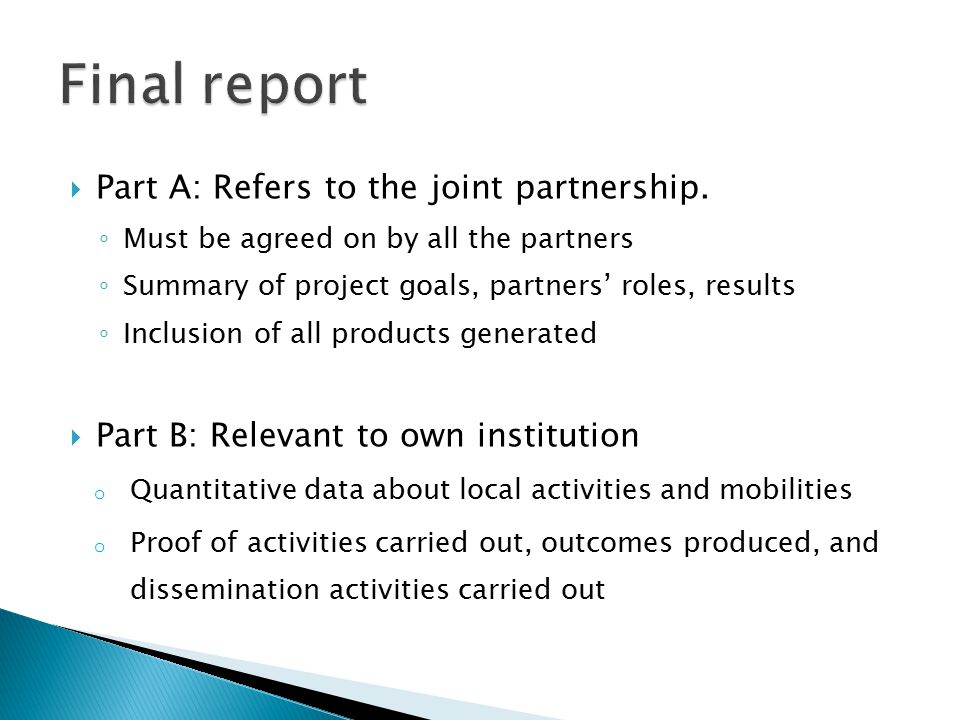  Part A: Refers to the joint partnership.