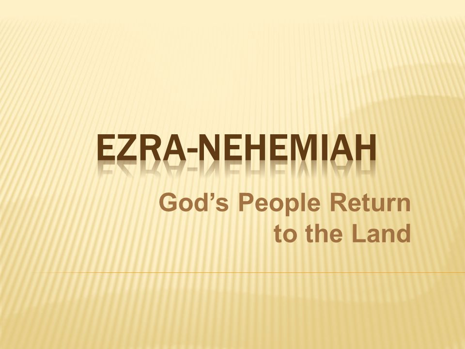 God's People Return to the Land