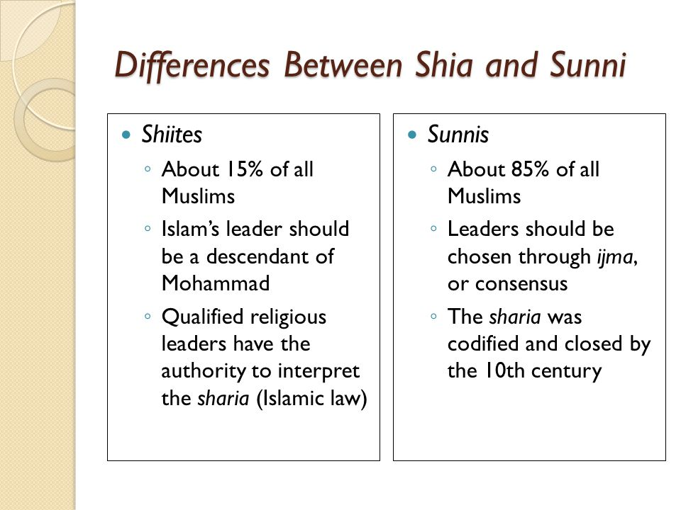 What Is The Difference Between Sunni And Shiite Muslims | yadbw.com