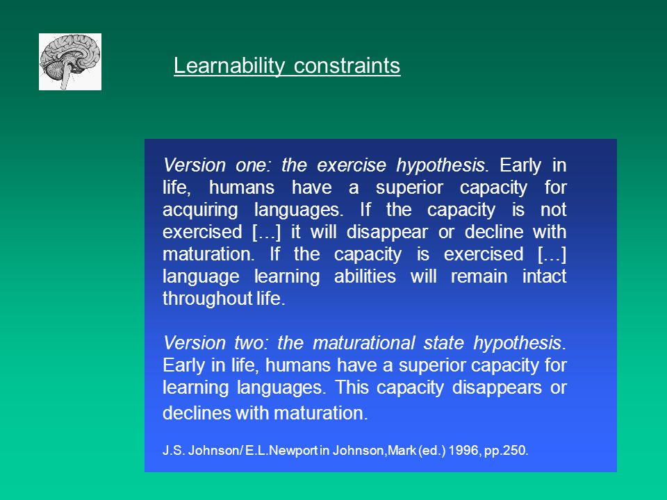 Psycholinguistics a dead discipline term coined in 1954 osgood 22 learnability constraints malvernweather