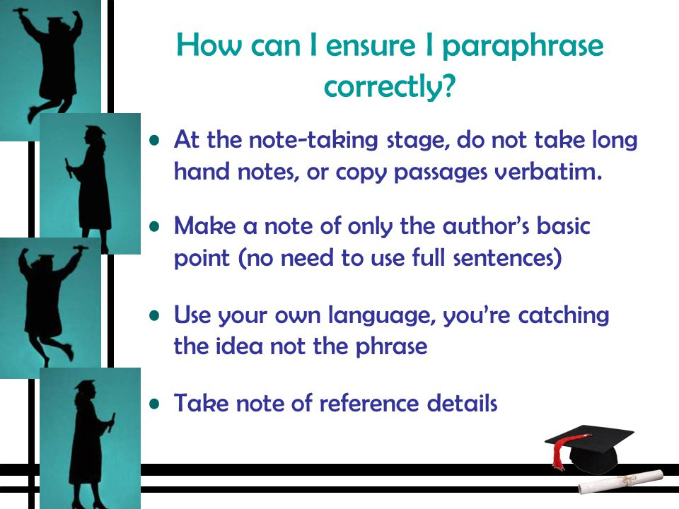 How can i paraphrase