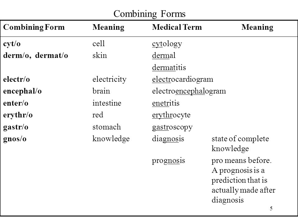 Combining Forms, Suffixes, and Prefixes Dr. Belal Hijji, RN, PhD ...