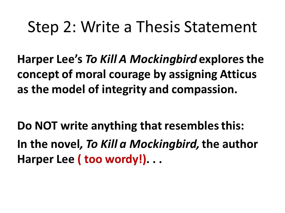 to kill a mockingbird thesis statement about atticus