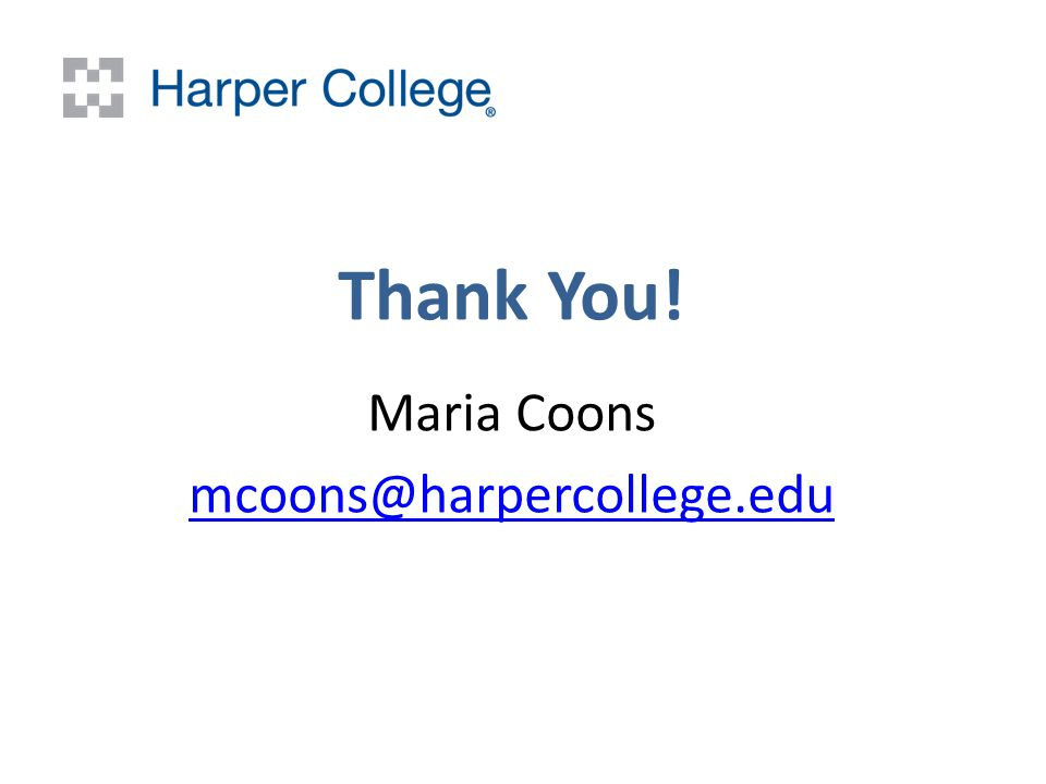 Thank You! Maria Coons