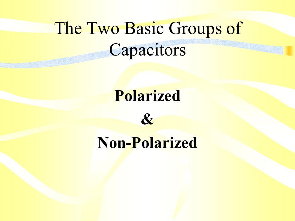 The Two Basic Groups of Capacitors Polarized & Non-Polarized
