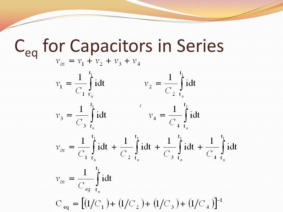C eq for Capacitors in Series