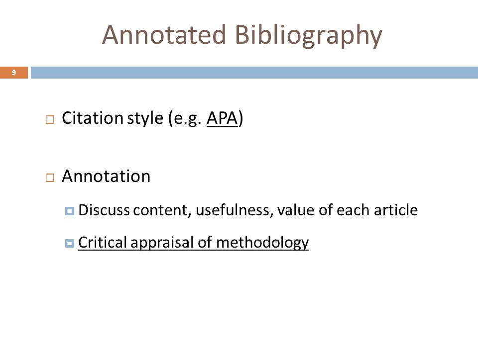 annotated bibliography 9 An annotated bibliography is crucial to the nhd process because it shows judges the scope and depth of your researchsome key elements to consider when creating an.