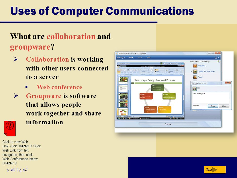 Uses of Computer Communications What are collaboration and groupware.