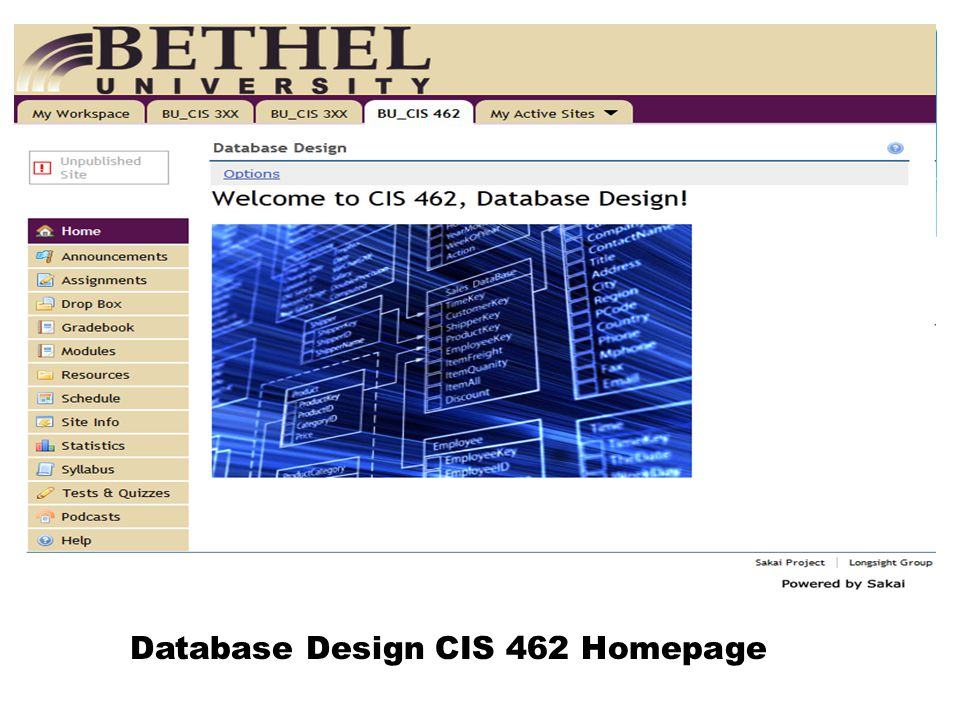 Database Design CIS 462 Homepage