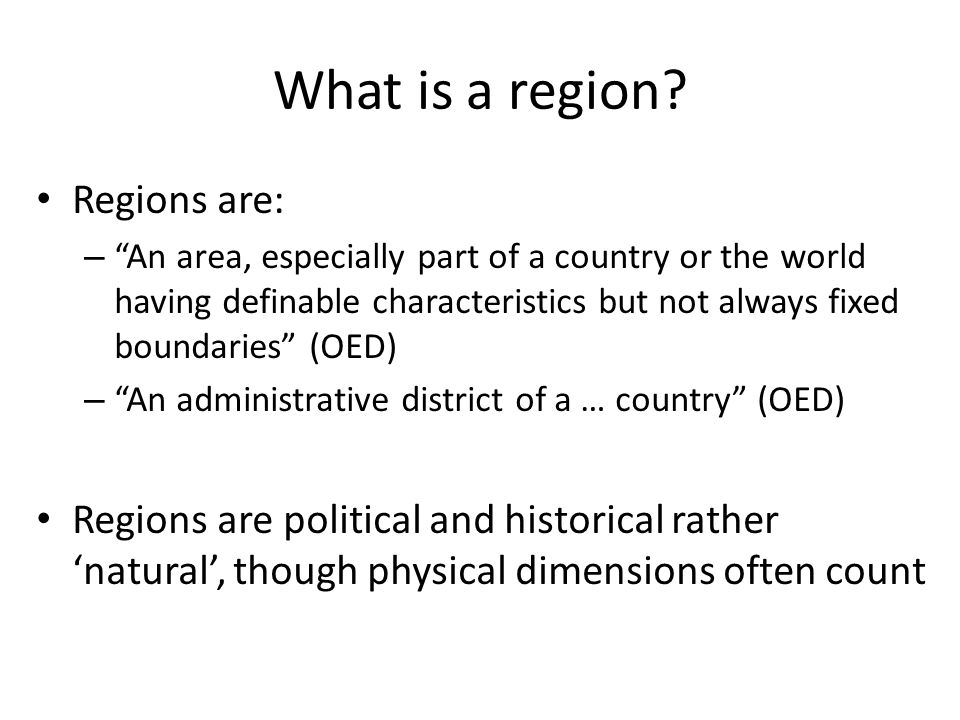 What is a region.