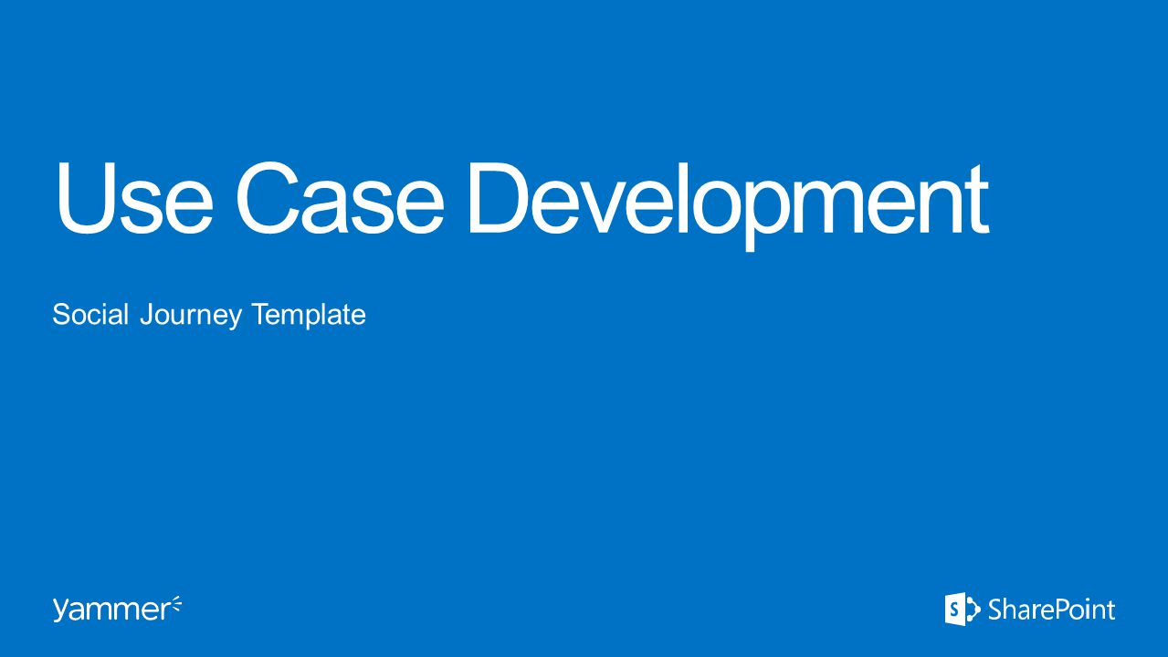 Use Case Development Social Journey Template