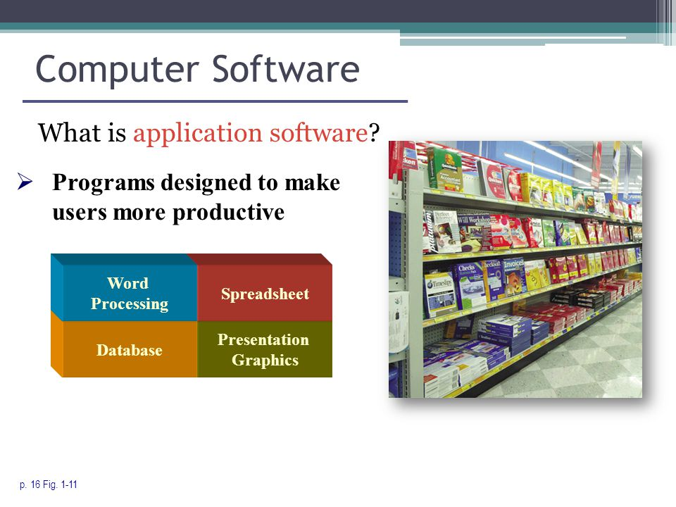 Computer Software What is application software. p.