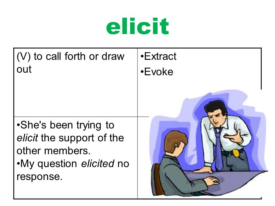 Awesome Elicit Definition
