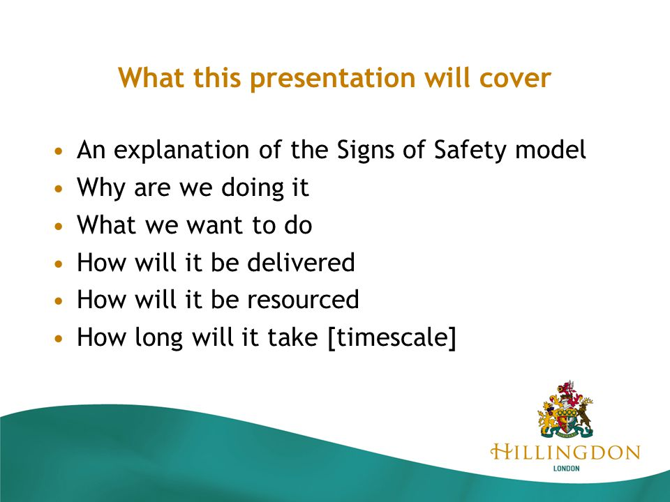 Signs Safety Framework The Signs of Safety Model