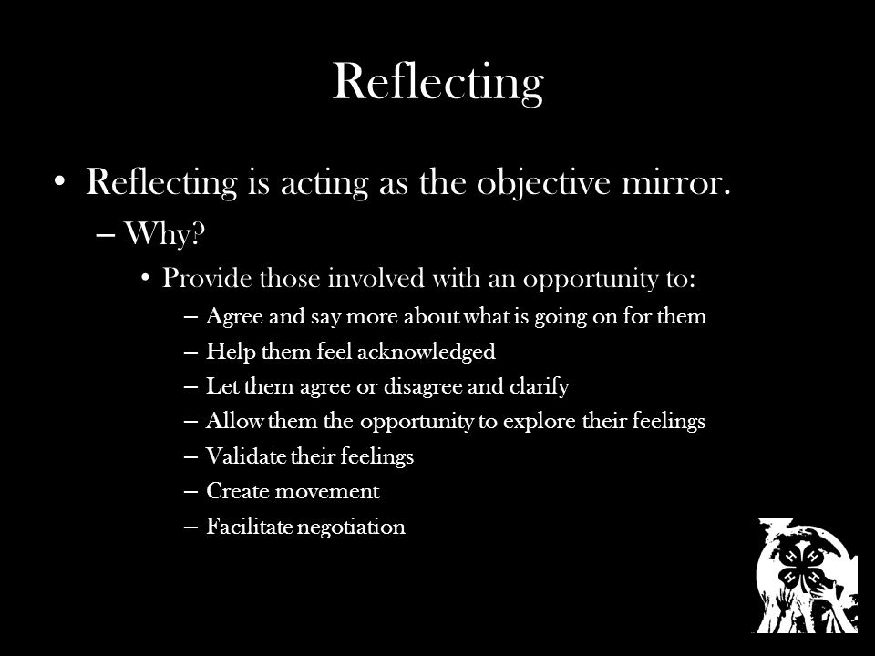 Reflecting Reflecting is acting as the objective mirror.
