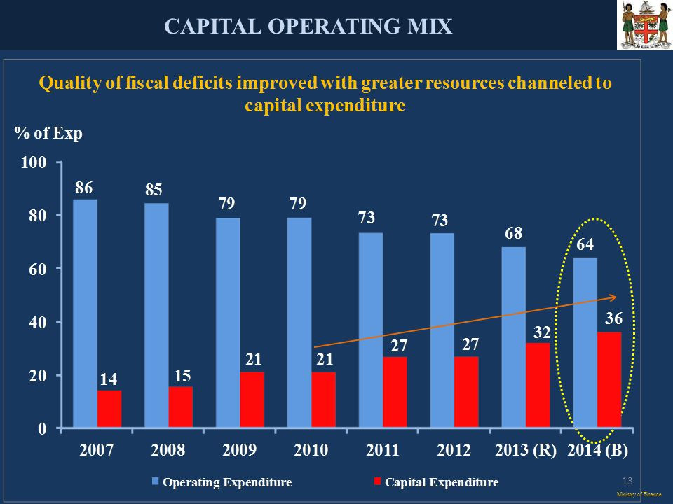 CAPITAL OPERATING MIX Ministry of Finance 13