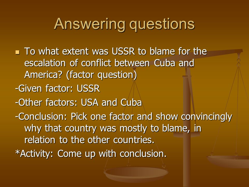 a simulation of the cuban missile crisis in relation to ussr What you consider to be the largest american misconception about the cuban missile crisis ended the crisis, but the soviet-cuban alliance the ussr was.