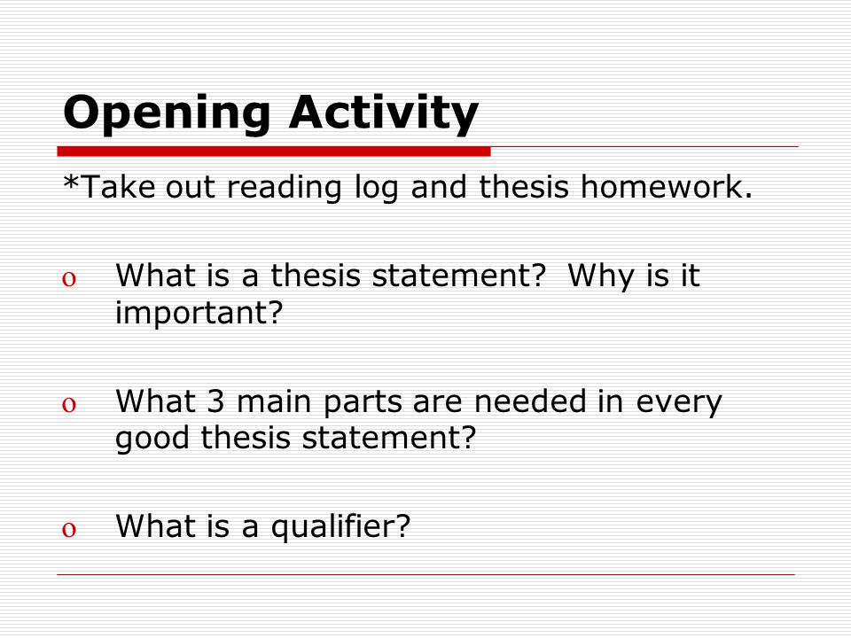 name the three parts of a thesis statement Essay writing, part 3: how to form a proper thesis statement by danielle lorenz have you ever battled while trying to develop a thesis for an essay you're not alone.