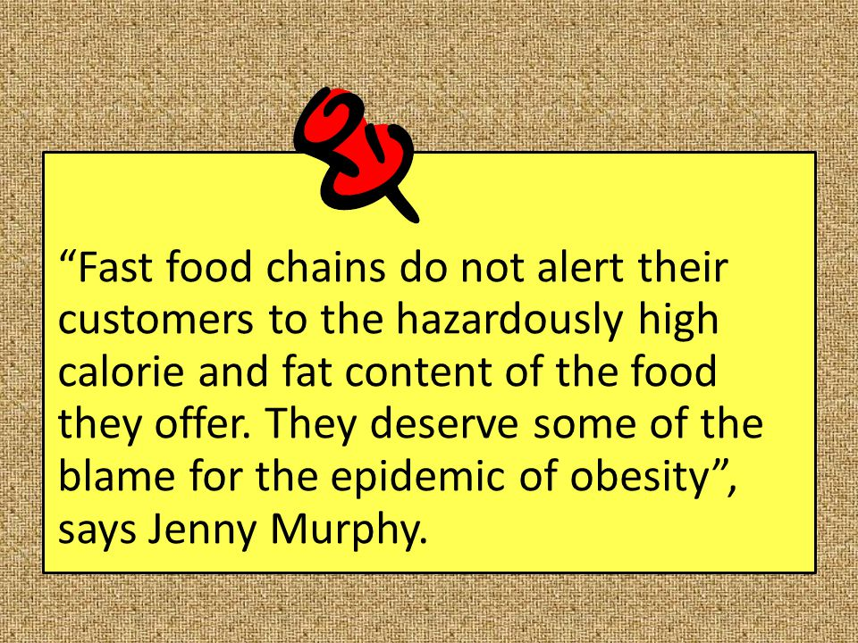 persuasive essay on fast food obesity The problem of obesity in america it has long been debated whether obesity is a relative measure and should not be used as a stigma to label overweight people.