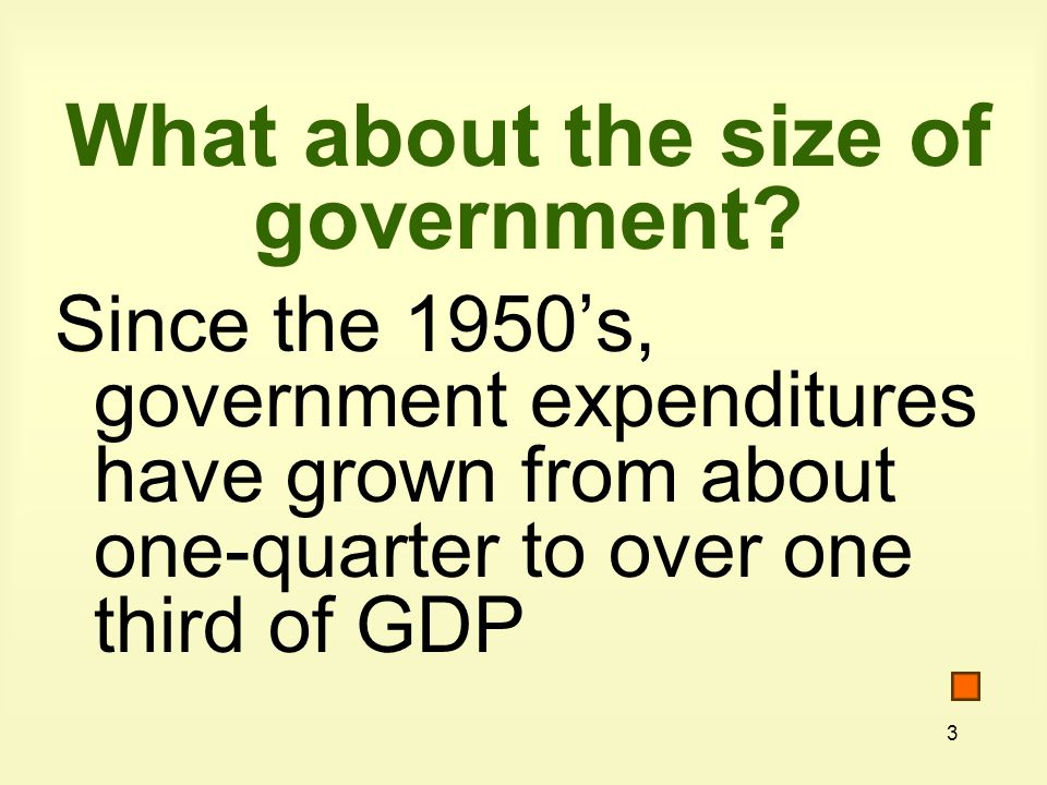 3 What about the size of government.