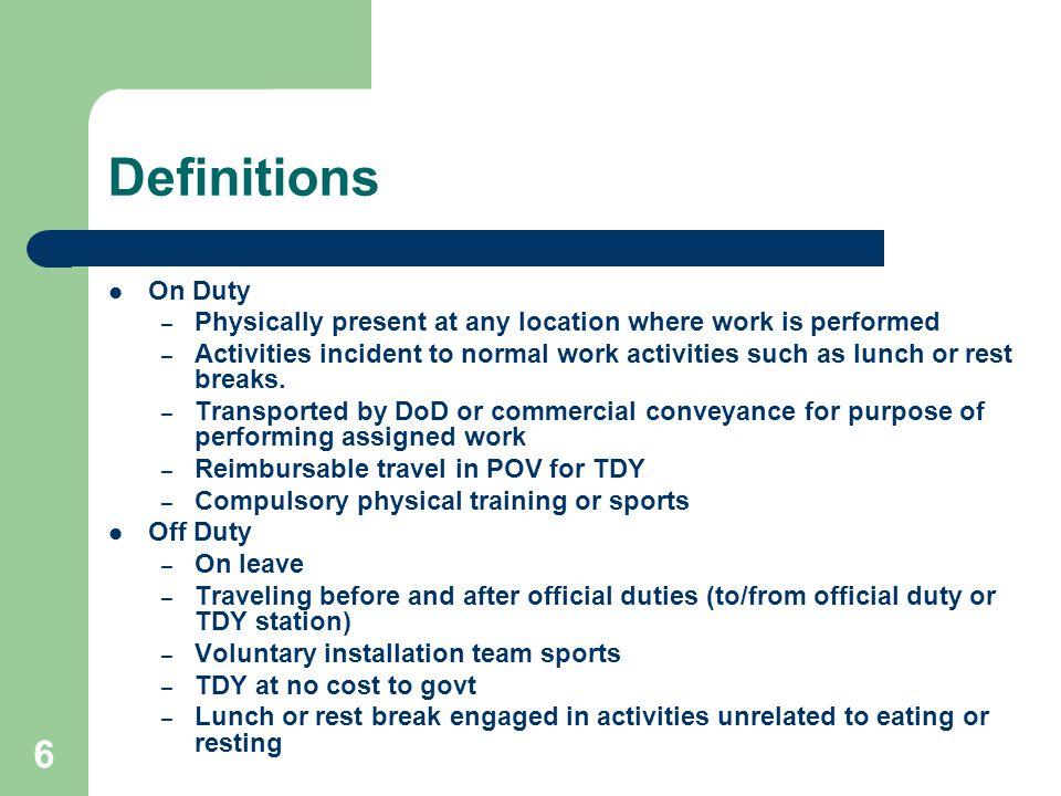 1 Military Injury Reporting Requirements Memorandum, The Under ...